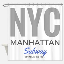NYC Manhattan Subway Shower Curtain