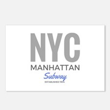 NYC Manhattan Subway Postcards (Package of 8)