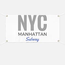 NYC Manhattan Subway Banner