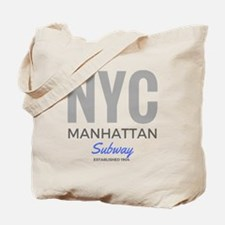 NYC Manhattan Subway Tote Bag