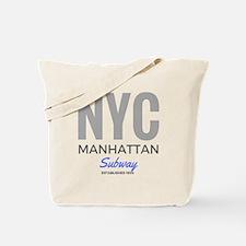 NYC Manhattan Subway Tote Bag