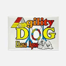 Lhasa Apso Agility Rectangle Magnet (10 pack)
