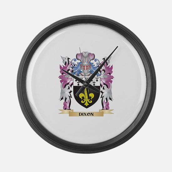 Dixon Coat of Arms (Family Crest) Large Wall Clock