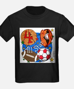 Sports 4th Birthday T-Shirt