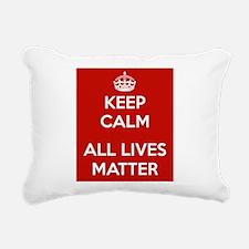 Keep Calm All Lives Matter Rectangular Canvas Pill