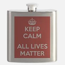 Keep Calm All Lives Matter Flask