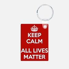 Keep Calm All Lives Matter Keychains