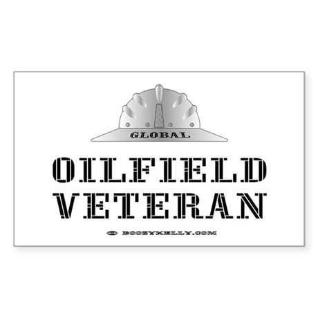 Oilfield Veteran Rectangle Sticker