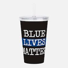 Blue Lives Matter Acrylic Double-wall Tumbler