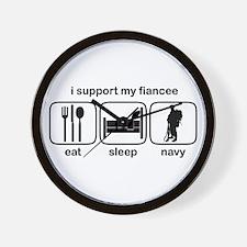Eat Sleep Navy - Support Fiancee Wall Clock