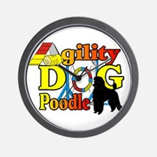 Poodle Agility Wall Clock