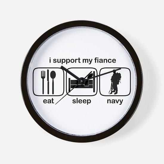 Eat Sleep Navy - Support Fiance Wall Clock