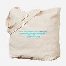 Responsible for trouble Tote Bag