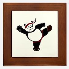 Martial Arts Panda Framed Tile