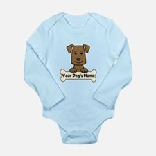 Personalized Labrador Long Sleeve Infant Bodysuit