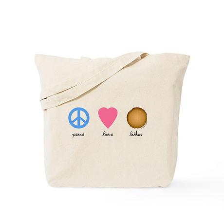 Peace Love Latkes Tote Bag