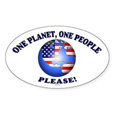 One People Please! Oval Decal