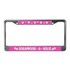 Scrapbooker-a-Holic License Plate Frame