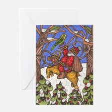 Santa Takes Off Greeting Card
