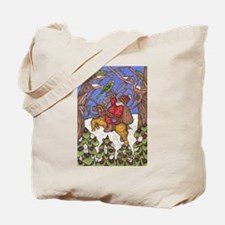 Santa Takes Off Tote Bag