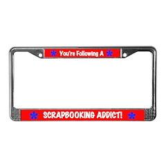 Scrapbooking Addict License Plate Frame