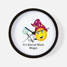 Social Work Magic Wall Clock