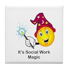 Social Work Magic Tile Coaster