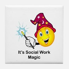Social Work Magic Tile Coaster