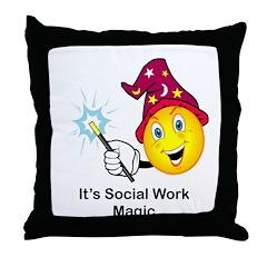 Social Work Magic Throw Pillow