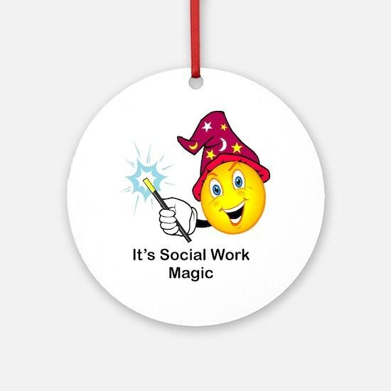 Social Work Magic Ornament (Round)