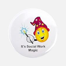 "Social Work Magic 3.5"" Button (100 pack)"