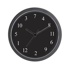 DYSLEXIC Wall Clock