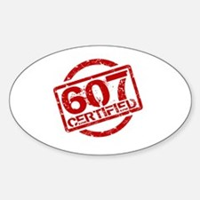 Cute Area code 607 Decal