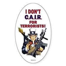 I Don't C.A.I.R. Oval Decal