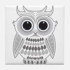 White Owl Tile Coaster