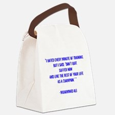 Champion quote Canvas Lunch Bag