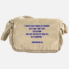 Champion quote Messenger Bag