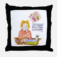 Scrapbooking Crop-A-Thon Throw Pillow
