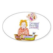 Scrapbooking Crop-A-Thon Oval Decal