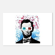 Abraham Lincoln - 3D Postcards (Package of 8)