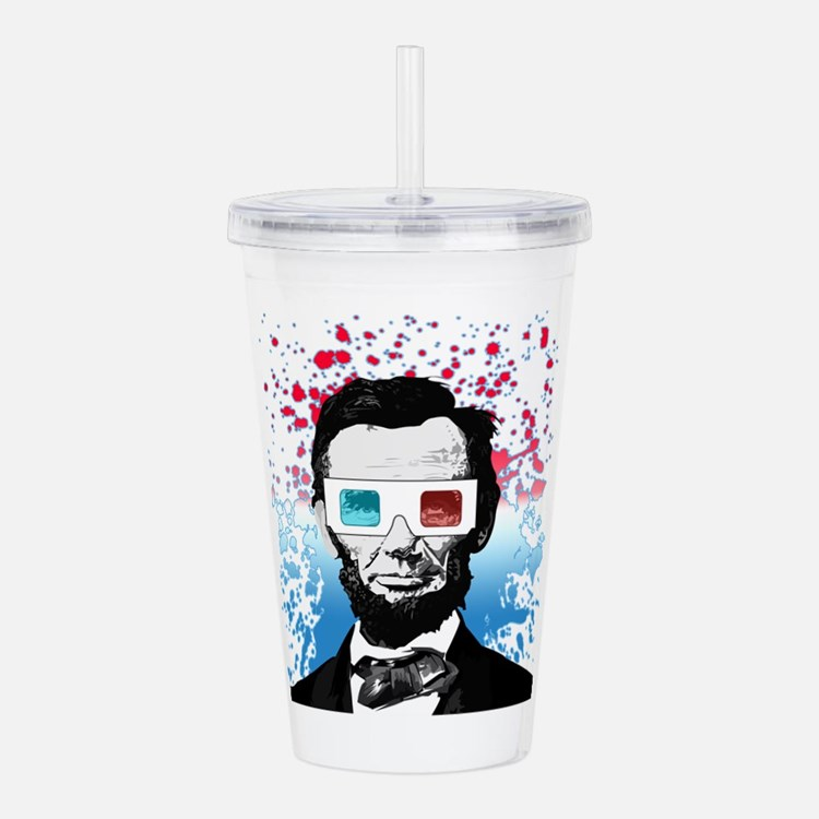 Abraham Lincoln - 3D Acrylic Double-wall Tumbler