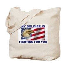 FIGHTING SOLDIER Tote Bag