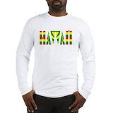 Kanaka maoli flag Long Sleeve T-shirts