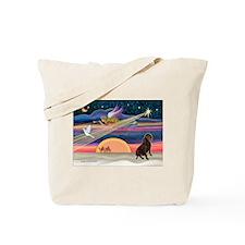 XmasStar/Lab (Choc) Tote Bag