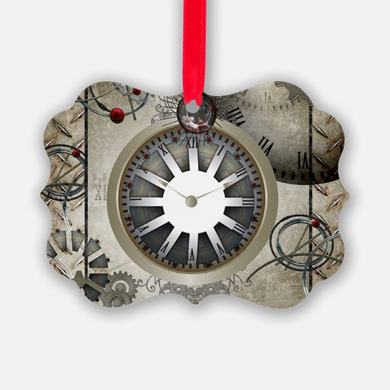 Steampunk, clocks and gears Ornament