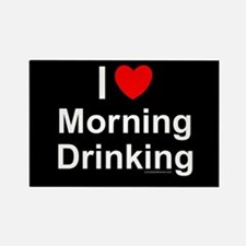 Morning Drinking Rectangle Magnet