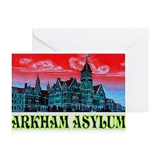 ARKHAM ASYLUM Greeting Cards