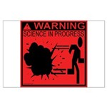 Science In Progress (red) Large Poster