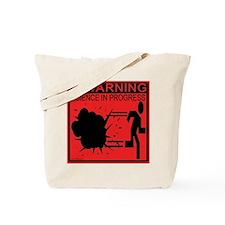 Science In Progress (red) Tote Bag