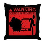 Science In Progress (red) Throw Pillow